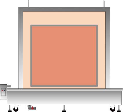 大型枠洗浄用熱水槽
